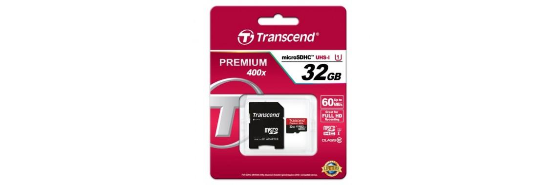 TRANSCEND Memory Card MicroSD Class 10, 32GB